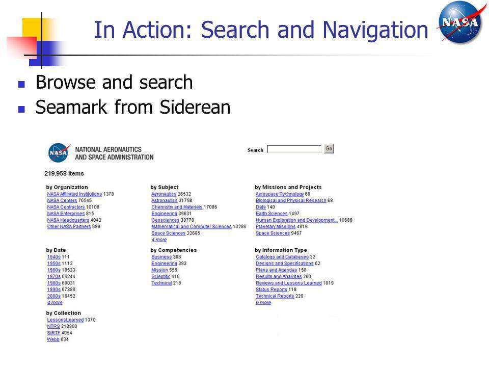 In Action: Search and Navigation