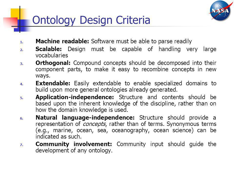 Ontology Design Criteria