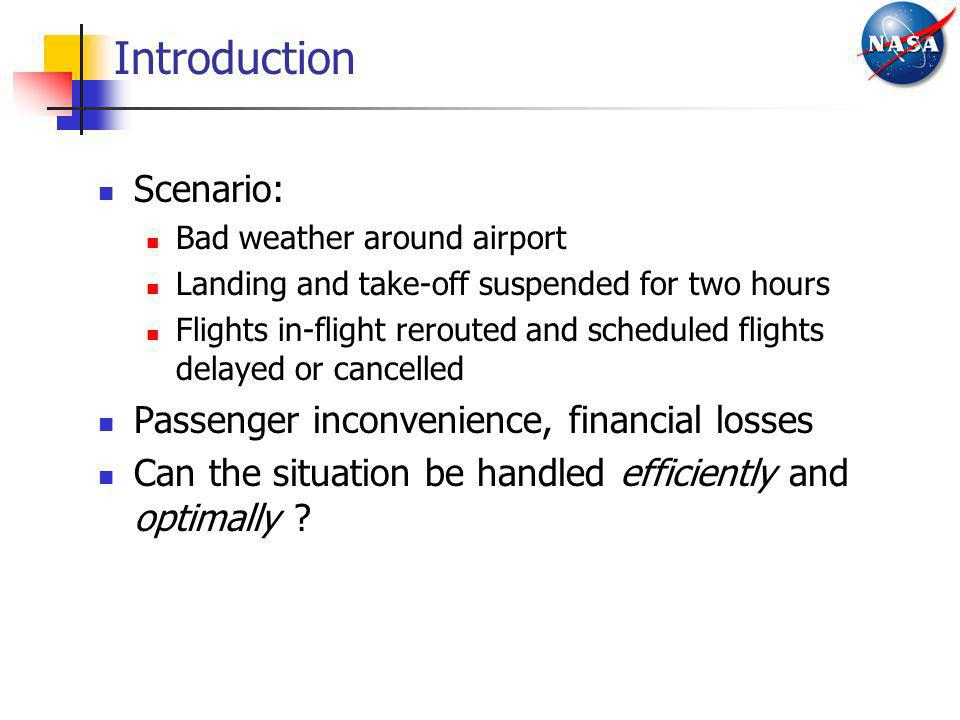 Introduction Scenario: Passenger inconvenience, financial losses
