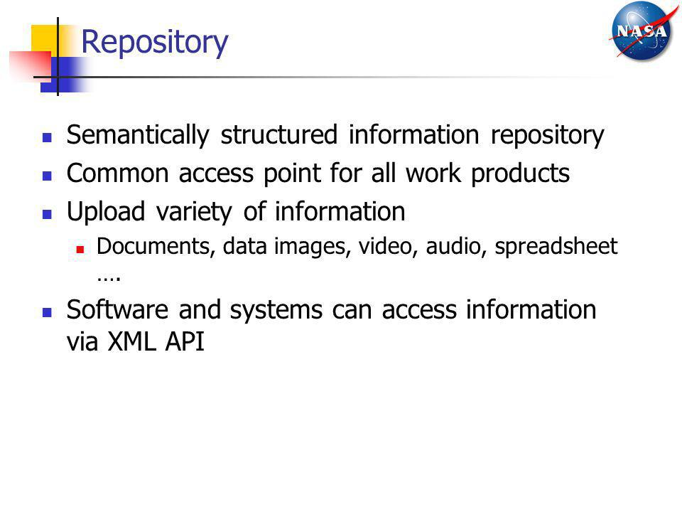Repository Semantically structured information repository