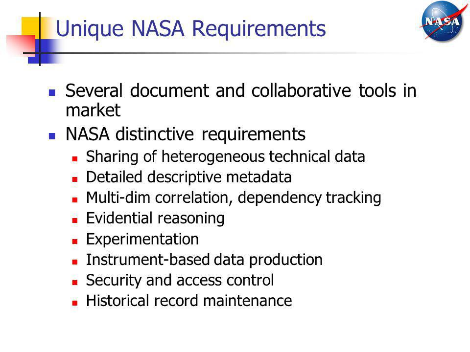 Unique NASA Requirements
