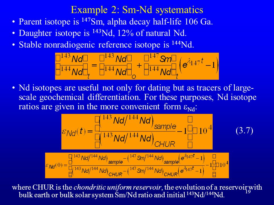Example 2: Sm-Nd systematics