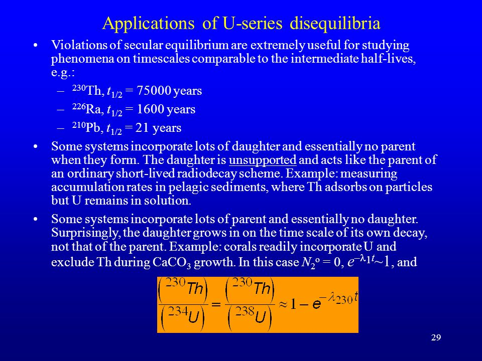 Applications of U-series disequilibria