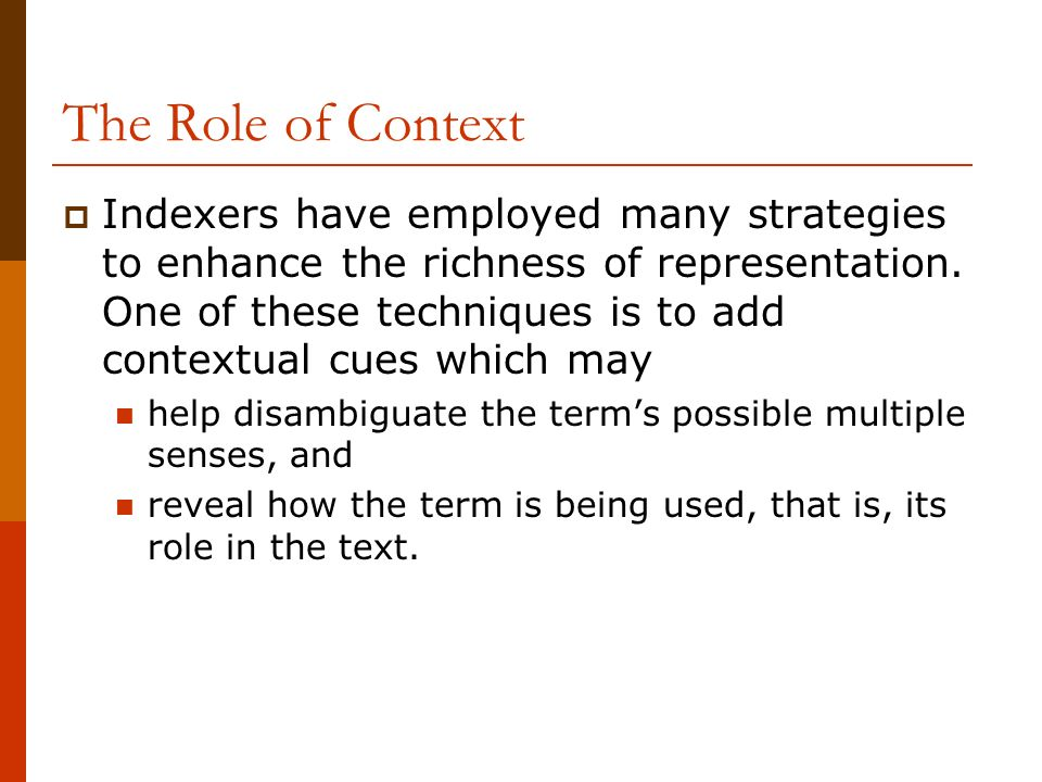 The Role of Context