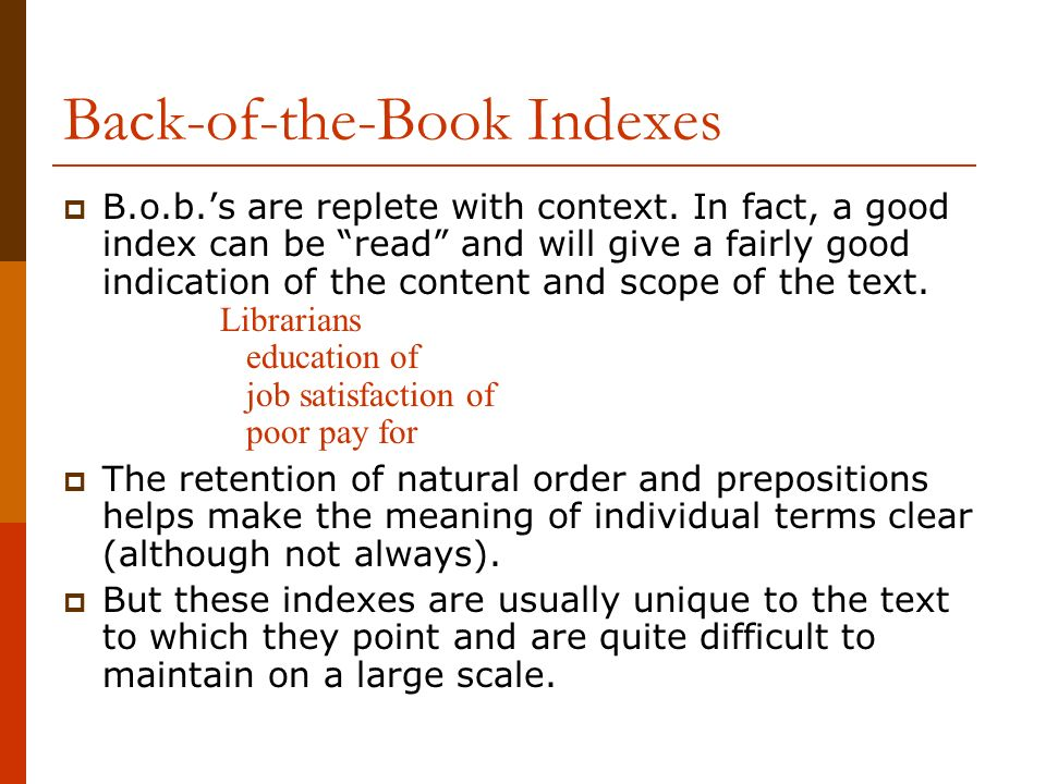 Back-of-the-Book Indexes