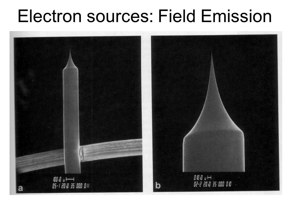 Electron sources: Field Emission