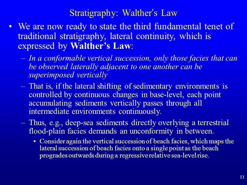 Stratigraphy: Walther's Law