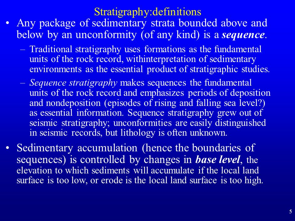 Stratigraphy:definitions