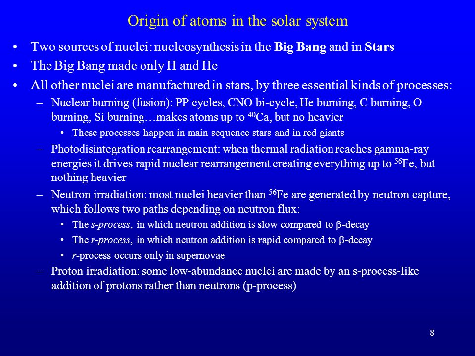 Solar abundance of the elements: things of note