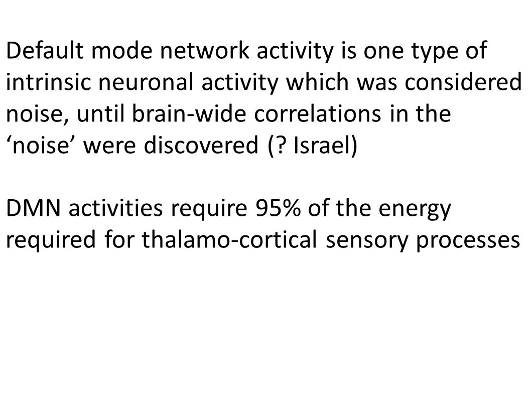 what about internally-generated mental states without sensory inputs