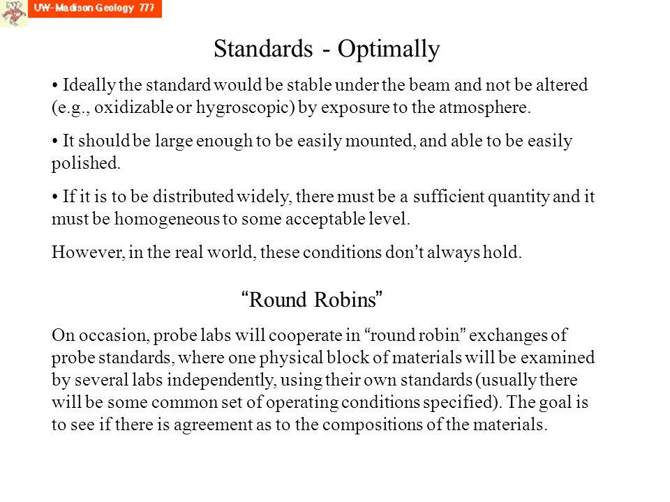 Standards - Optimally Round Robins