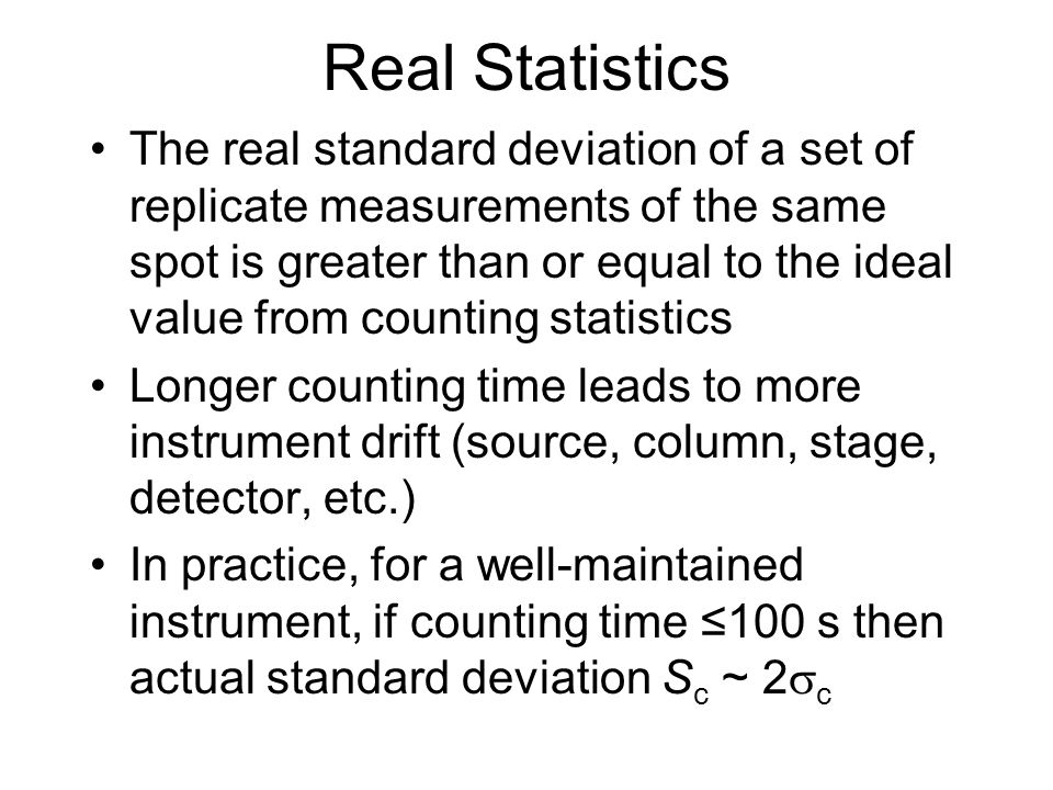Real Statistics