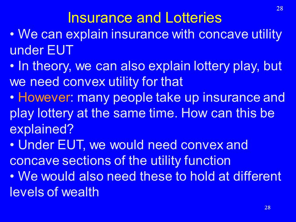 Insurance and Lotteries