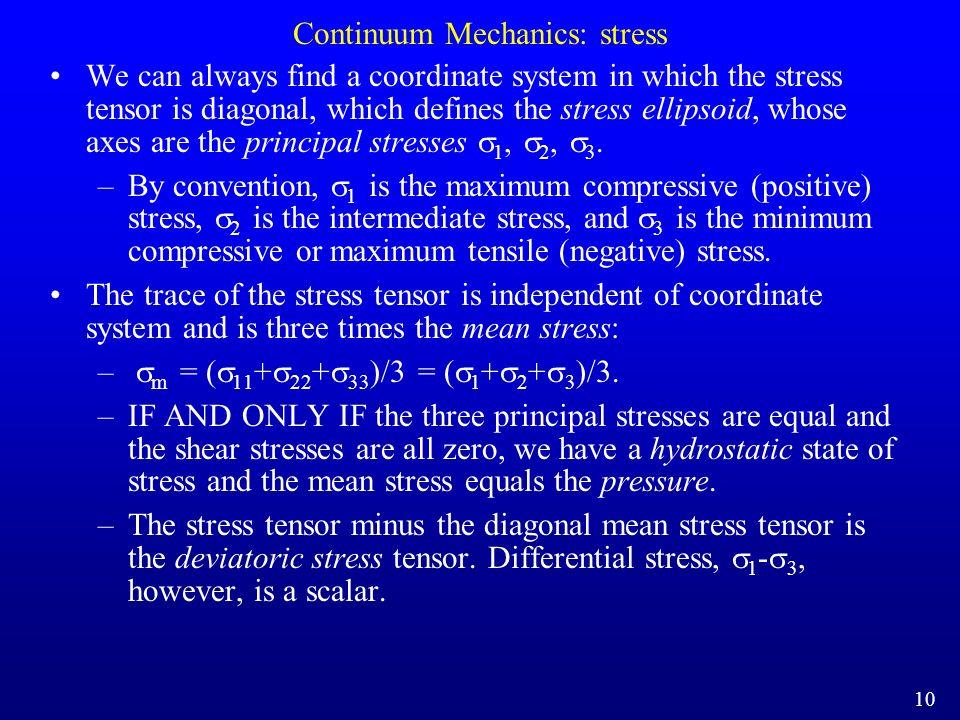 Continuum Mechanics: stress