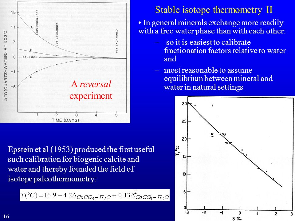 Stable isotope thermometry II