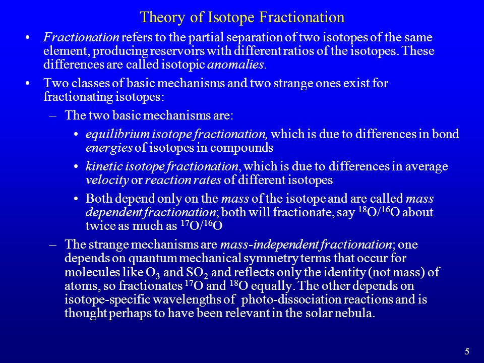 Theory of Isotope Fractionation