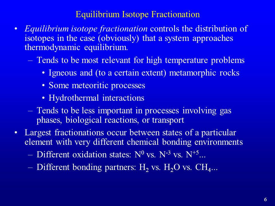 Equilibrium Isotope Fractionation