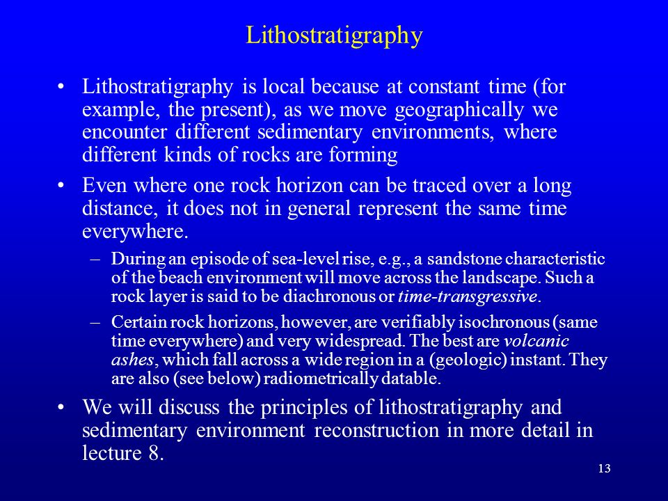 Lithostratigraphy