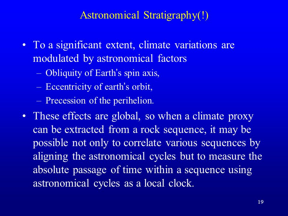 Astronomical Stratigraphy(!)