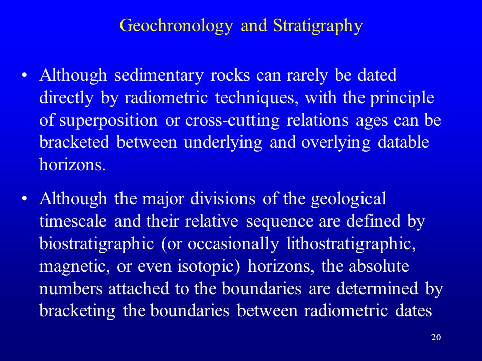 Geochronology and Stratigraphy