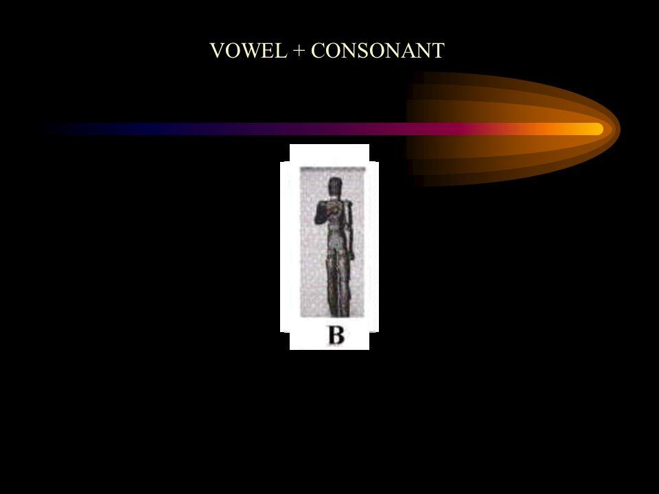 VOWEL + CONSONANT