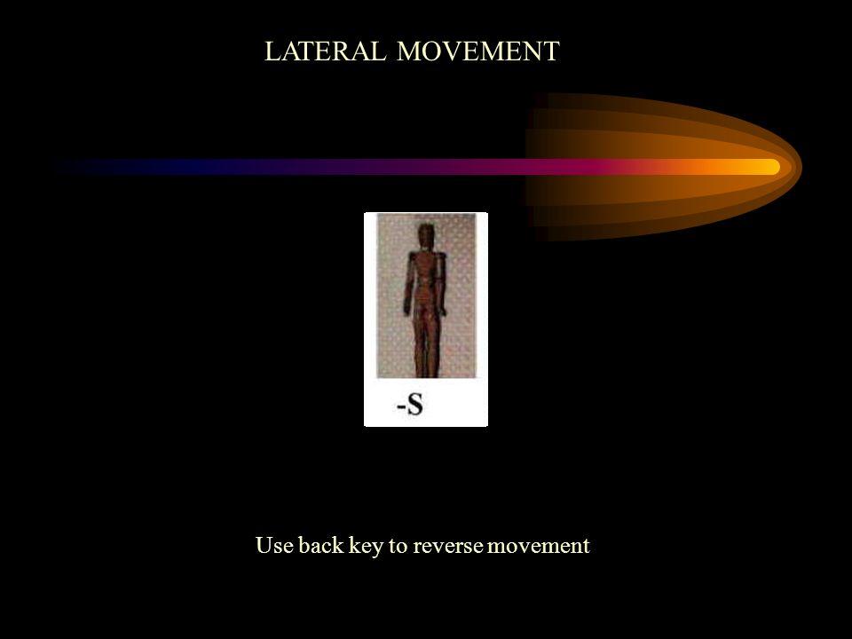 Use back key to reverse movement