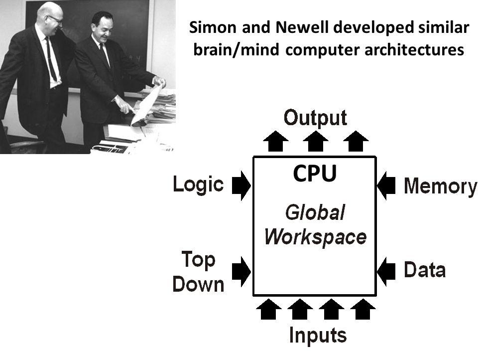 Simon and Newell developed similar
