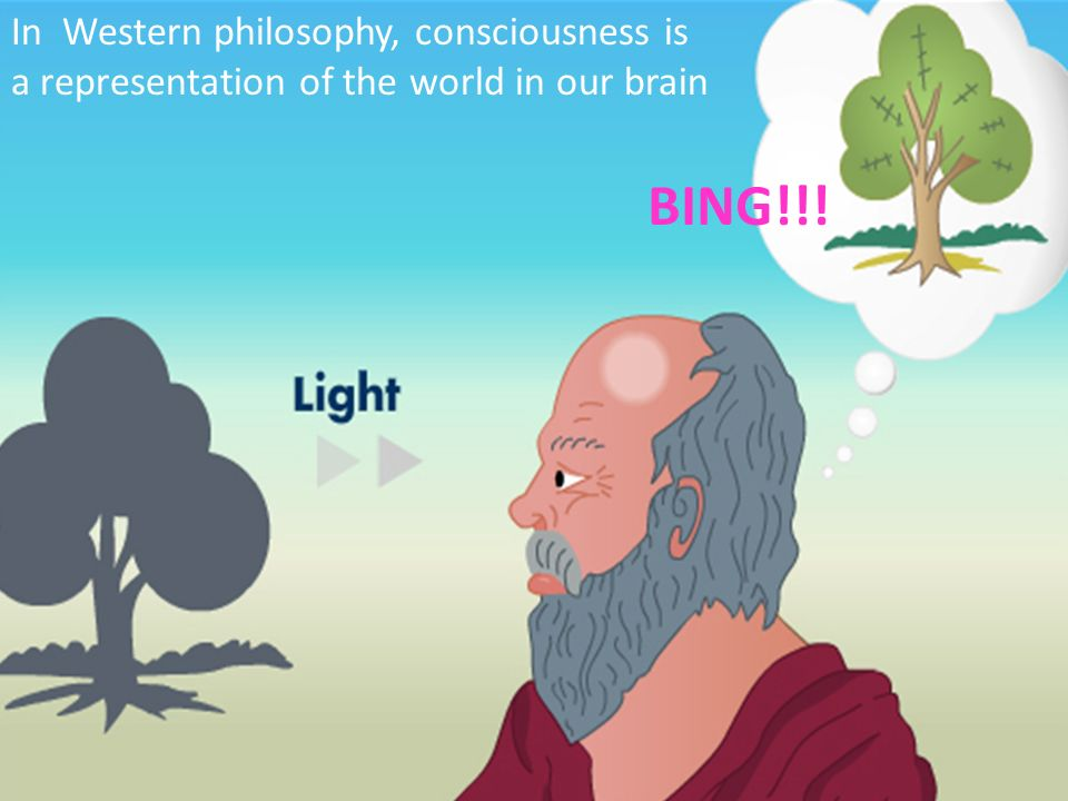 BING!!! In Western philosophy, consciousness is