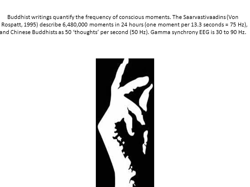 Buddhist writings quantify the frequency of conscious moments