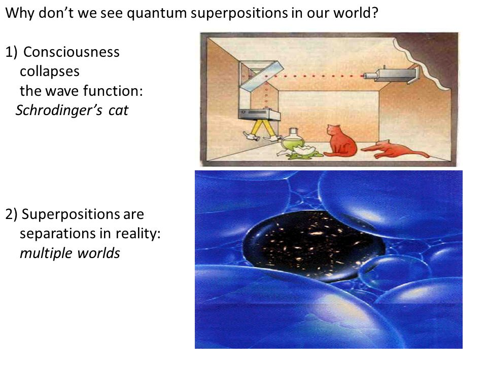 Why don't we see quantum superpositions in our world
