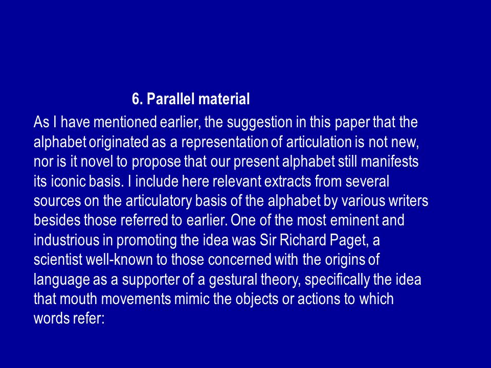 6. Parallel material