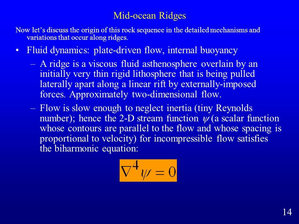 Fluid dynamics: plate-driven flow, internal buoyancy
