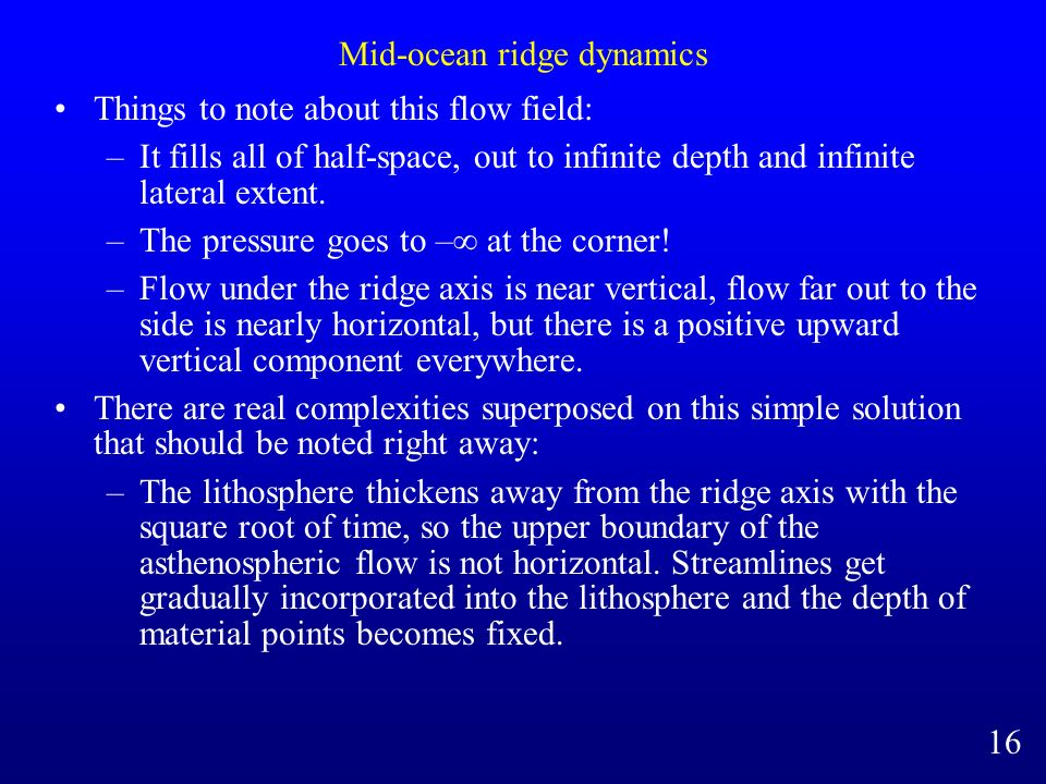 Mid-ocean ridge dynamics