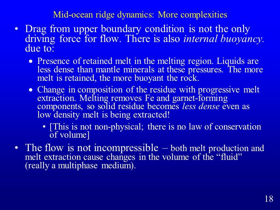 Mid-ocean ridge dynamics: More complexities