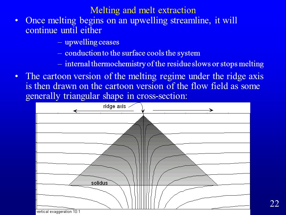 Melting and melt extraction