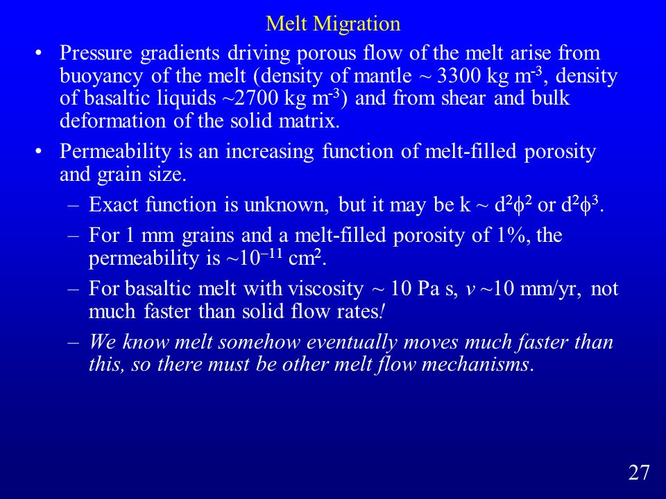 Melt Migration
