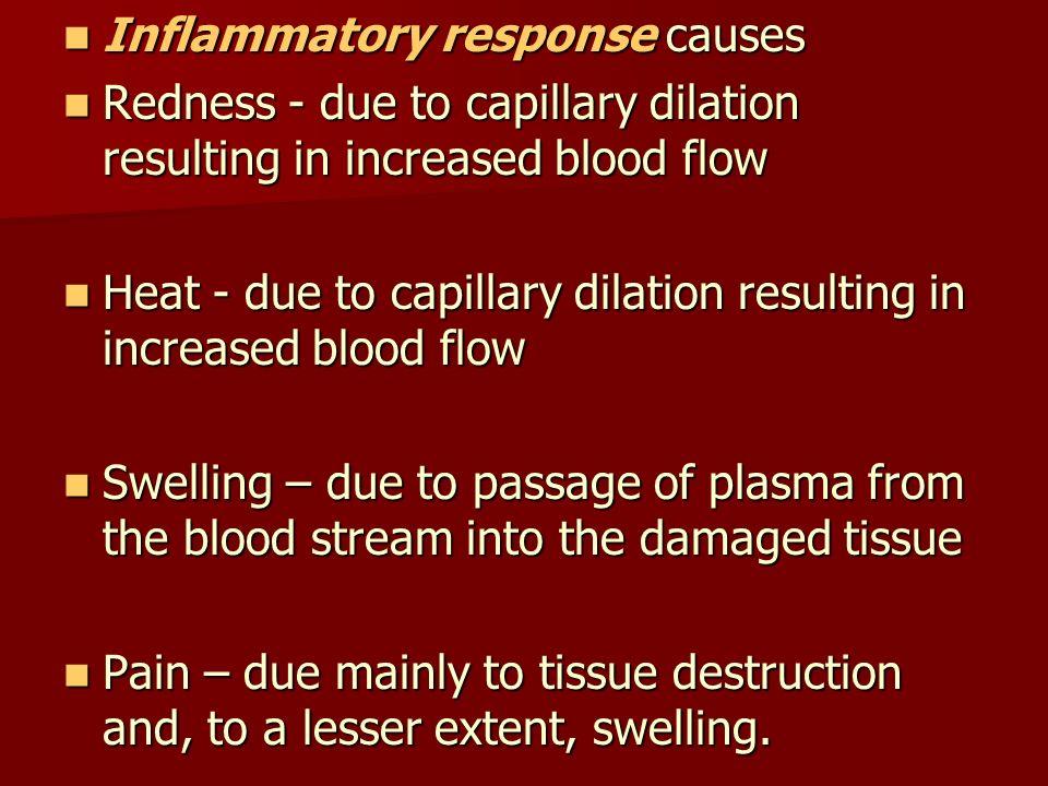 Inflammatory response causes