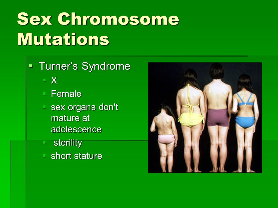 Sex Chromosome Mutations
