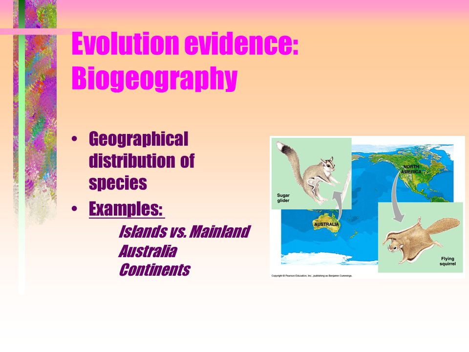 Evolution evidence: Biogeography