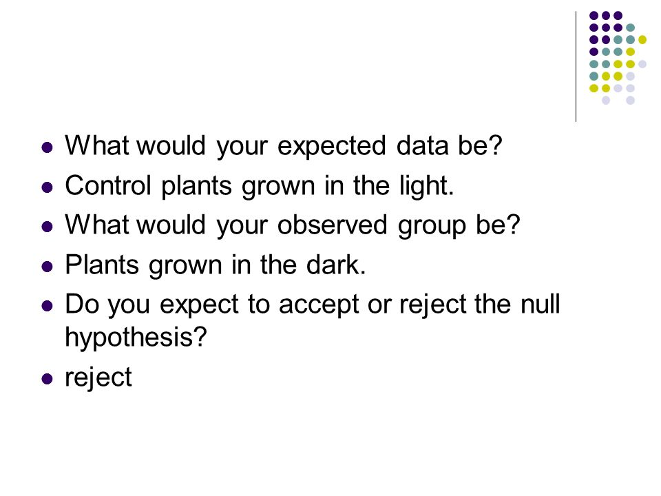What would your expected data be