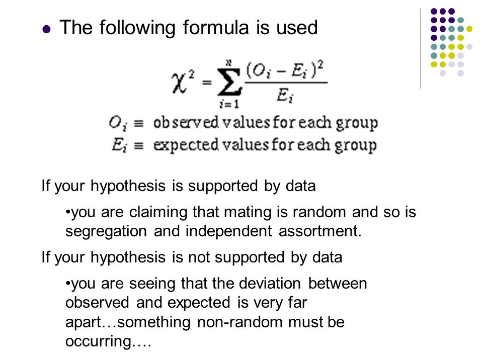 The following formula is used