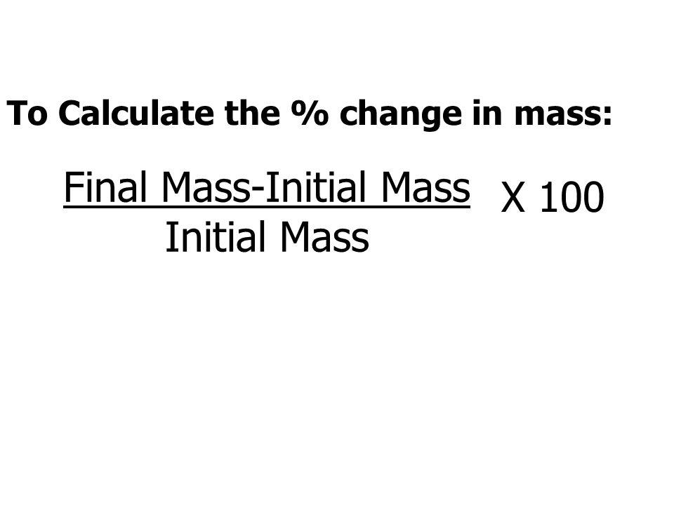 Final Mass-Initial Mass Initial Mass