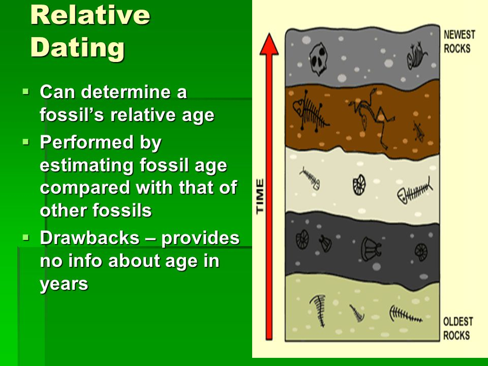 Relative Dating Can determine a fossil's relative age