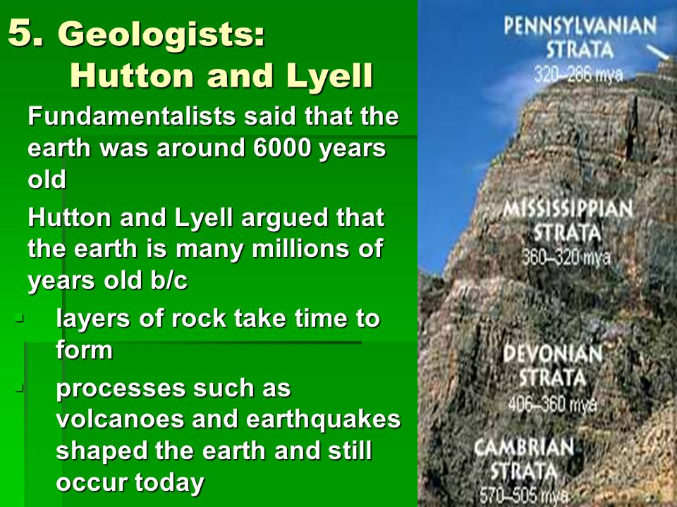 5. Geologists: Hutton and Lyell