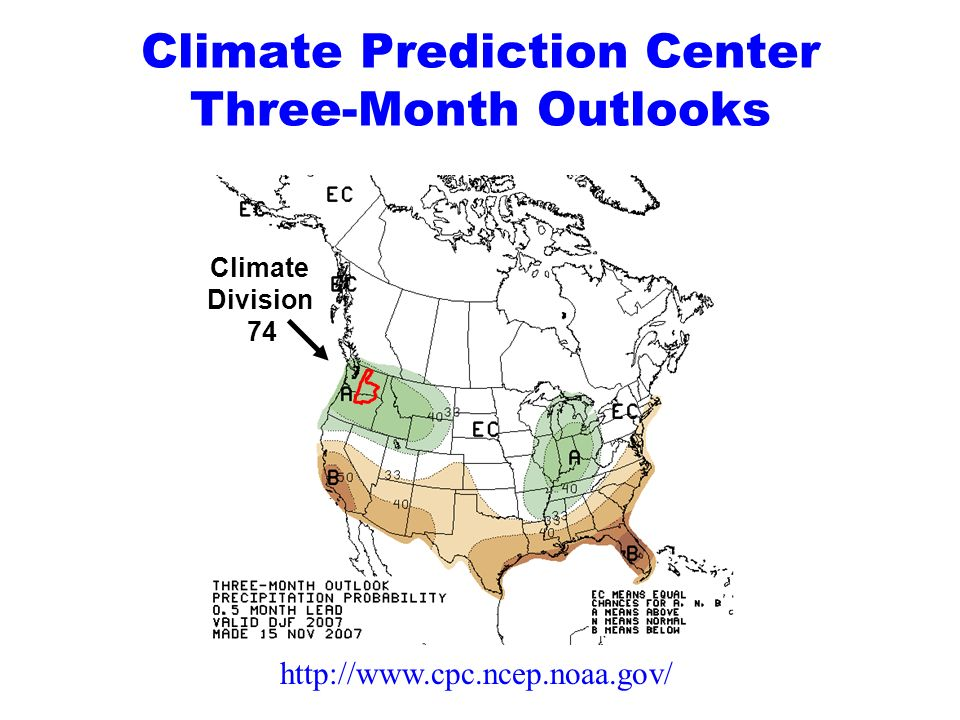 Climate Prediction Center Three-Month Outlooks