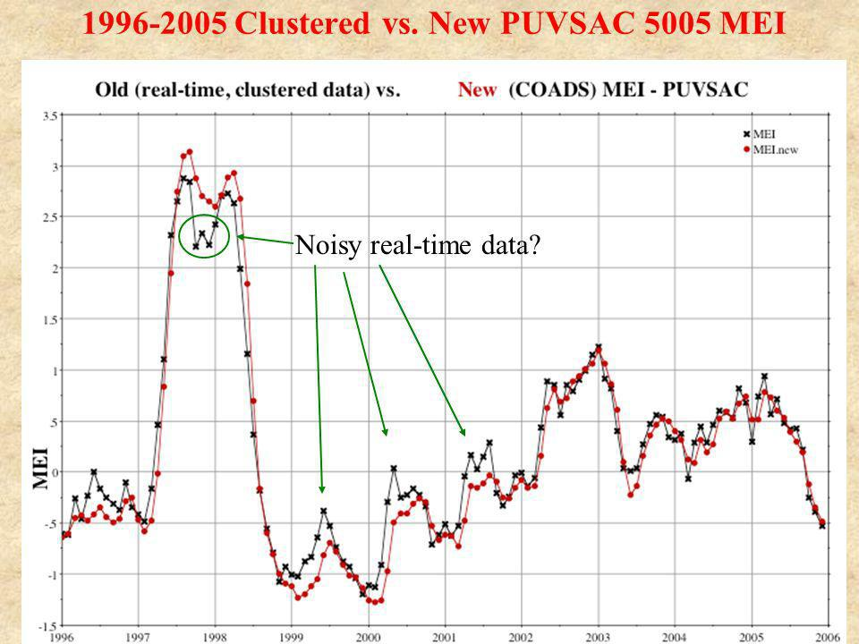 1996-2005 Clustered vs. New PUVSAC 5005 MEI