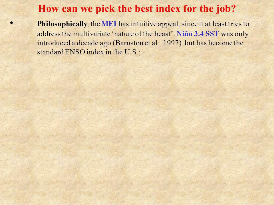 How can we pick the best index for the job