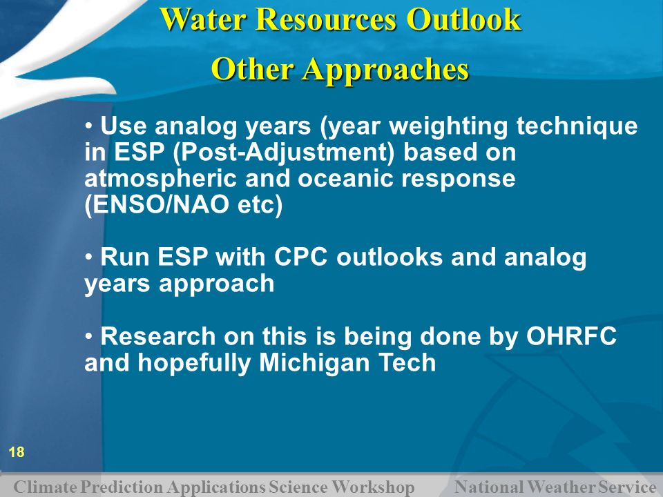 Water Resources Outlook