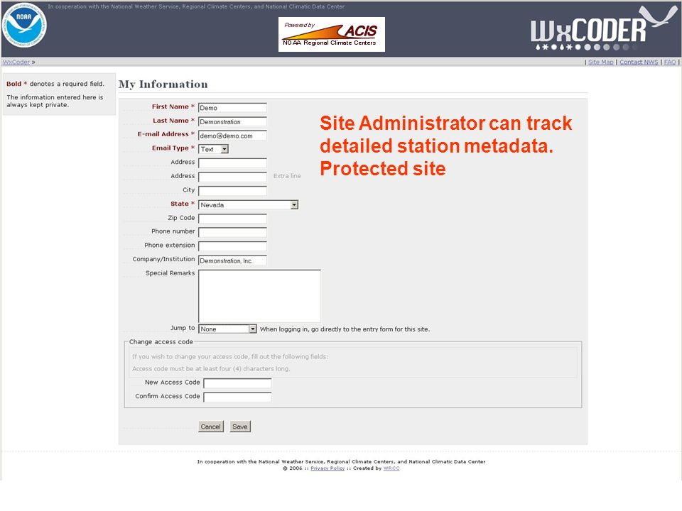 Site Administrator can track