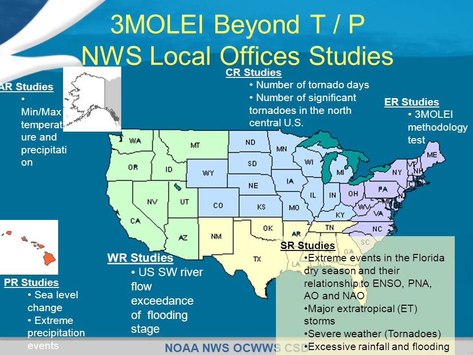 3MOLEI Beyond T / P NWS Local Offices Studies